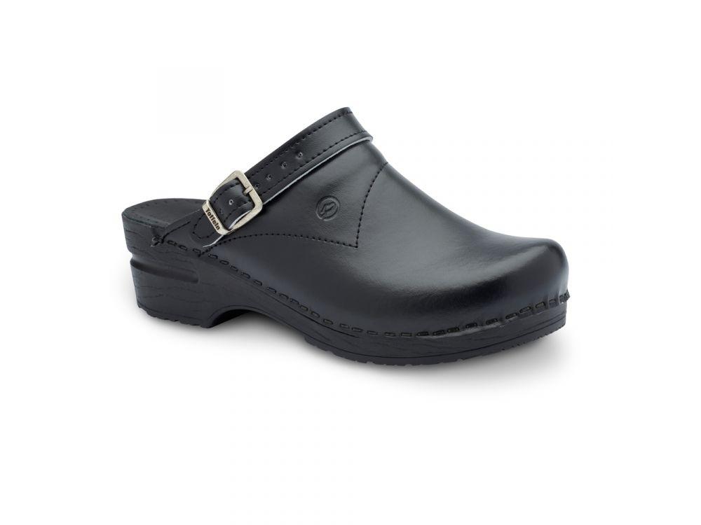 Toffeln FlexiKlog With Heel Strap - Black