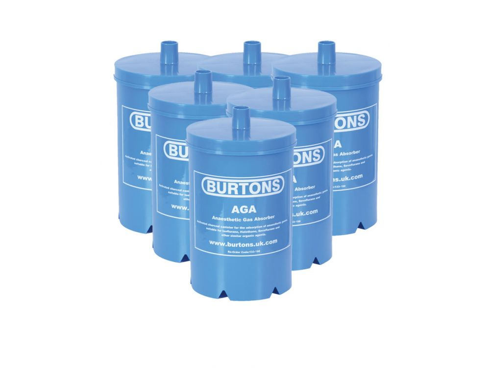Burtons Anaesthetic Gas Absorber - Box Of 6