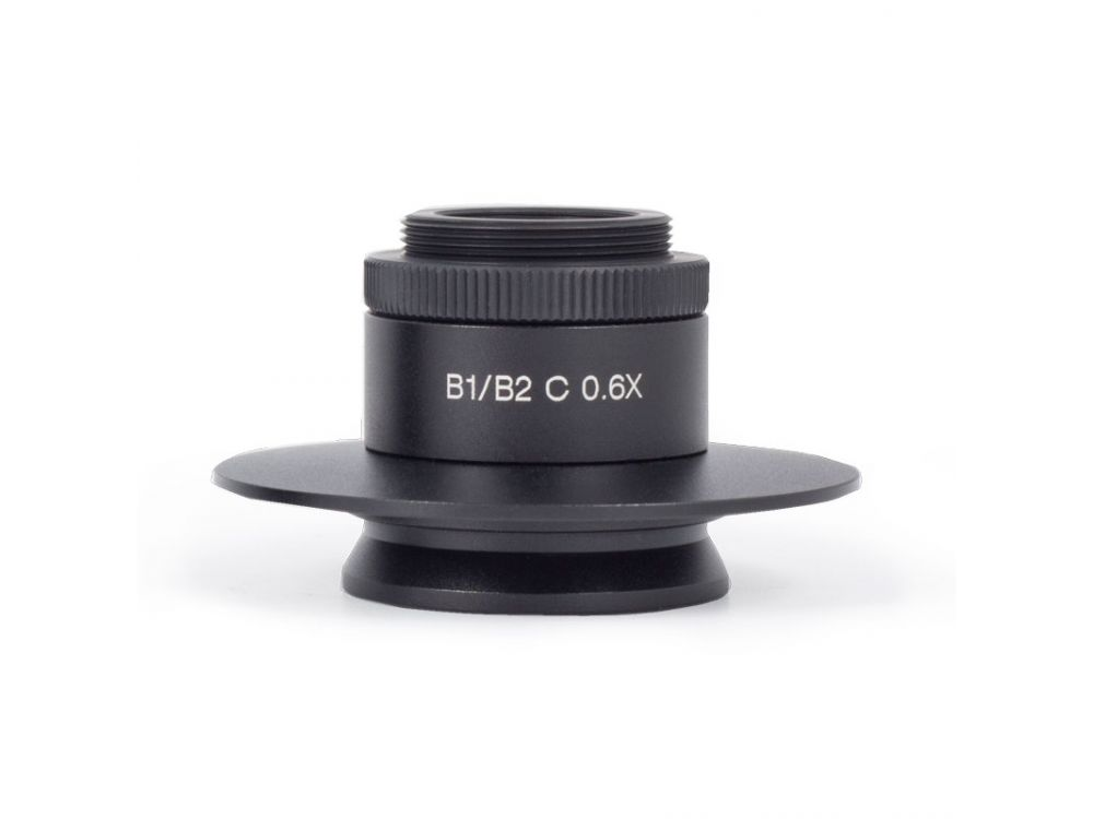 0.6X C-Mount Camera Adaptor for 1/2In Chip Sensors on Motic B1 Trinocular Microscopes