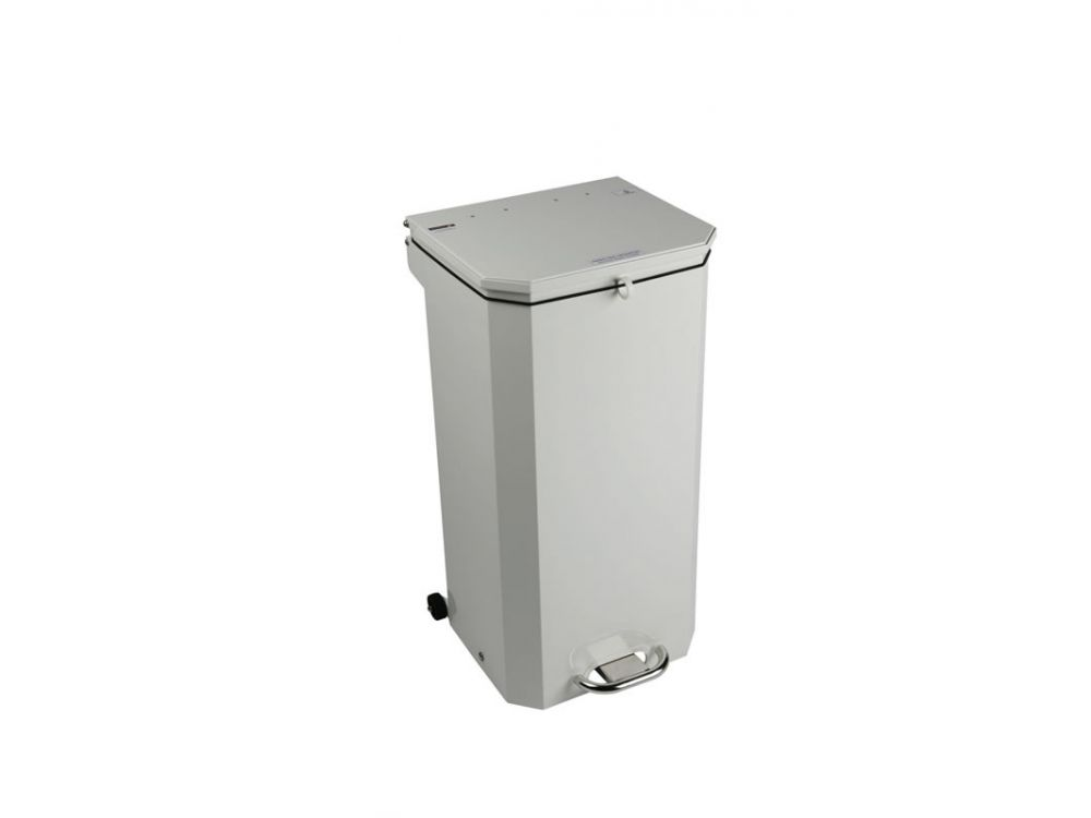 Hands Free Waste Bin White Lid (For General Use)