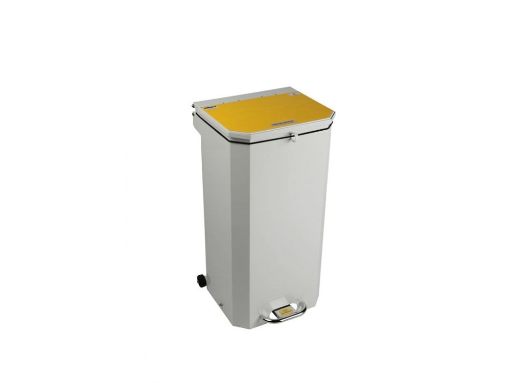 Hands Free Waste Bin Yellow Lid (For Incineration)