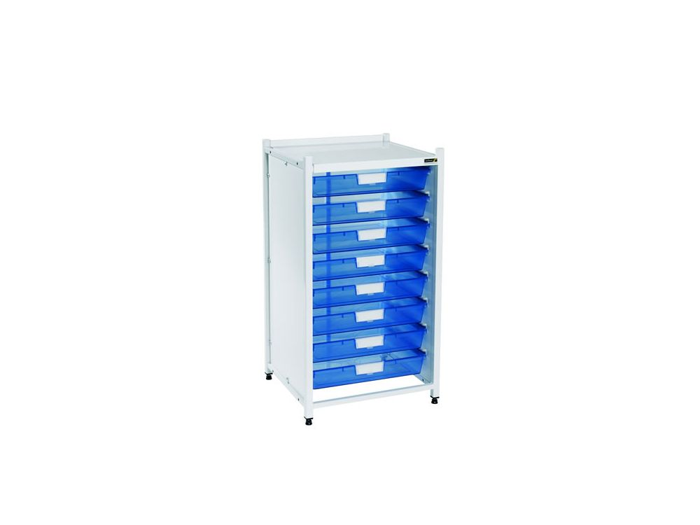 Vista Low Level Module with 8 Single Depth Trays - Blue