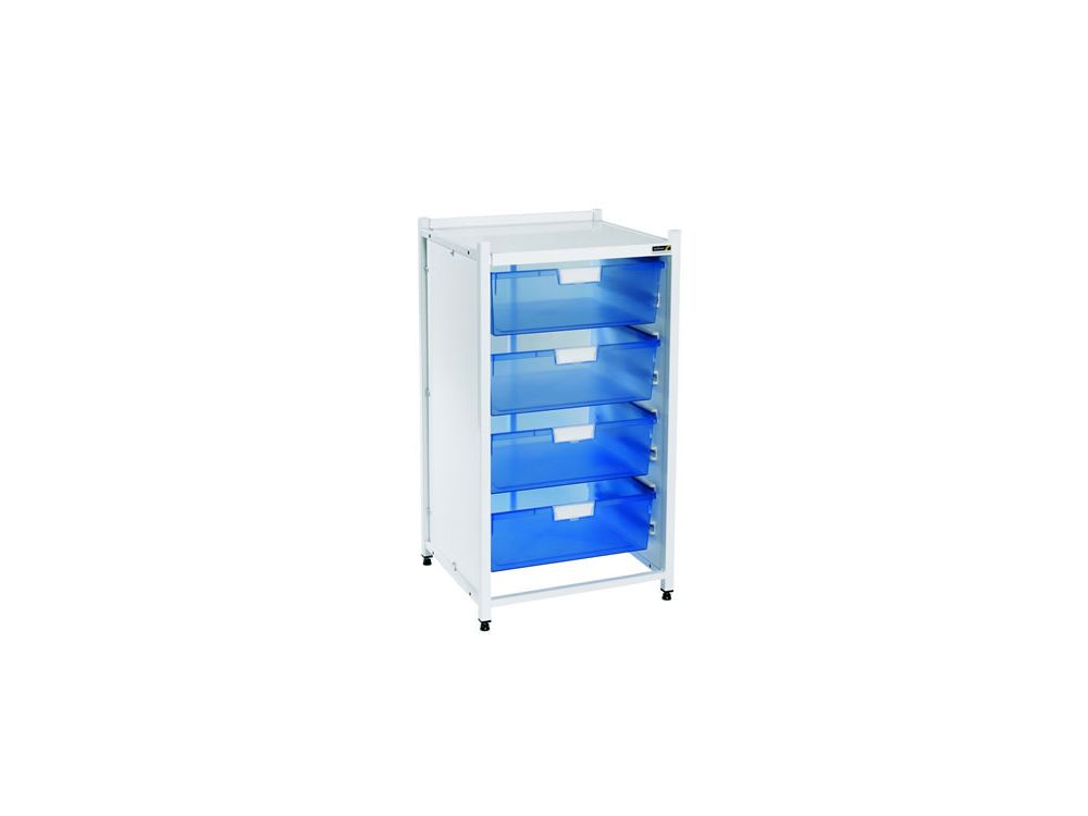Vista Low Level Module with 4 Double Depth Trays - Blue