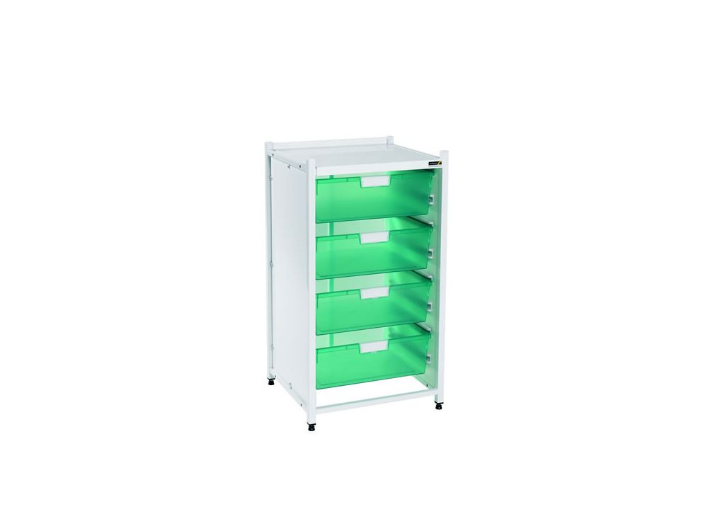 Vista Low Level Module with 4 Double Depth Trays - Green