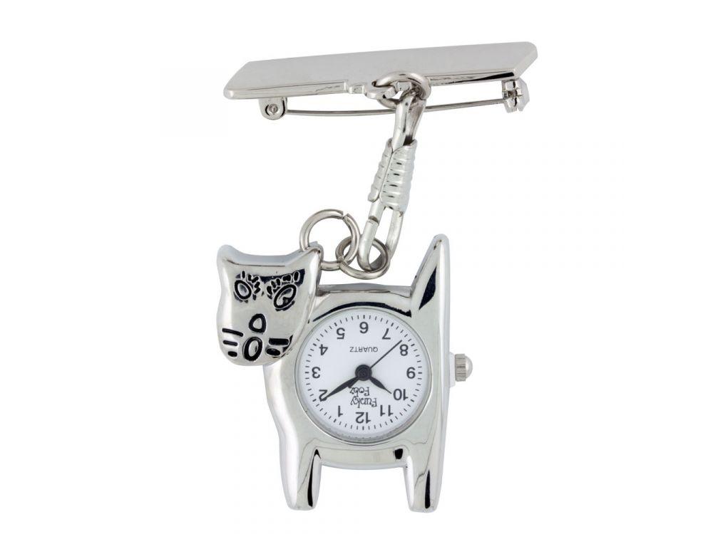 Metal Cat Fob Watch