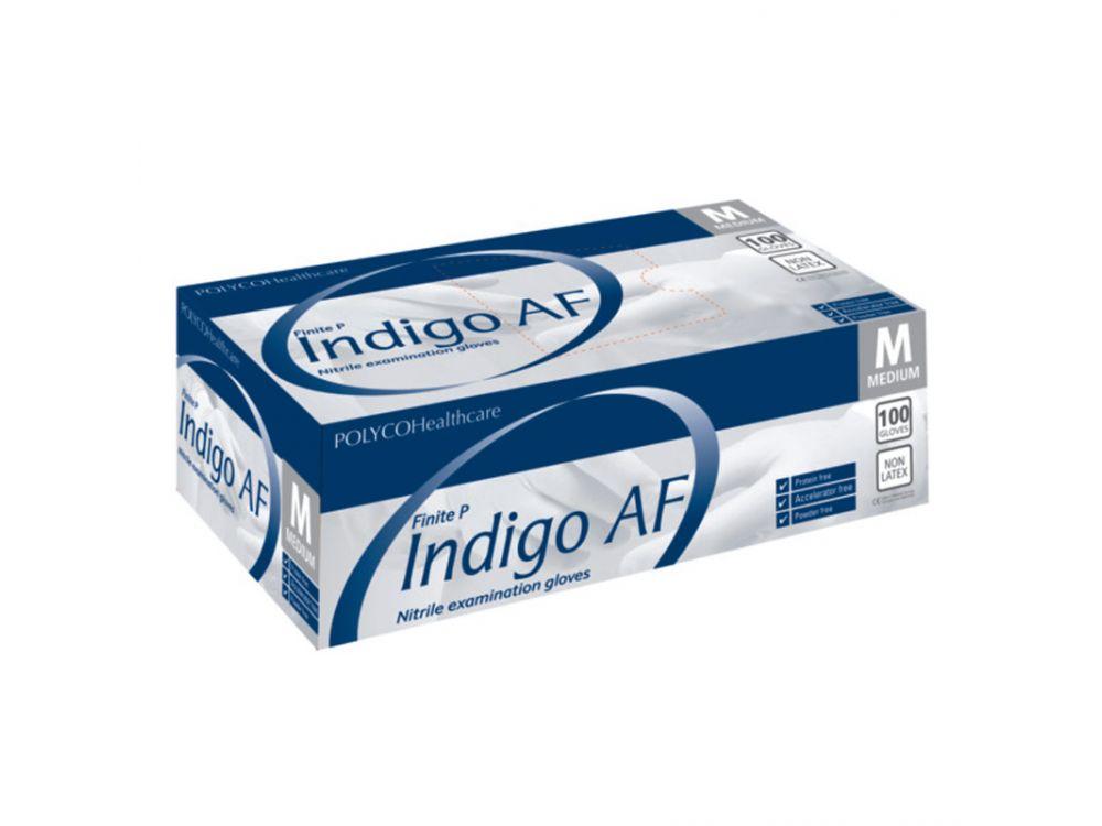 Indigo AF Nitrile Powder Free Gloves