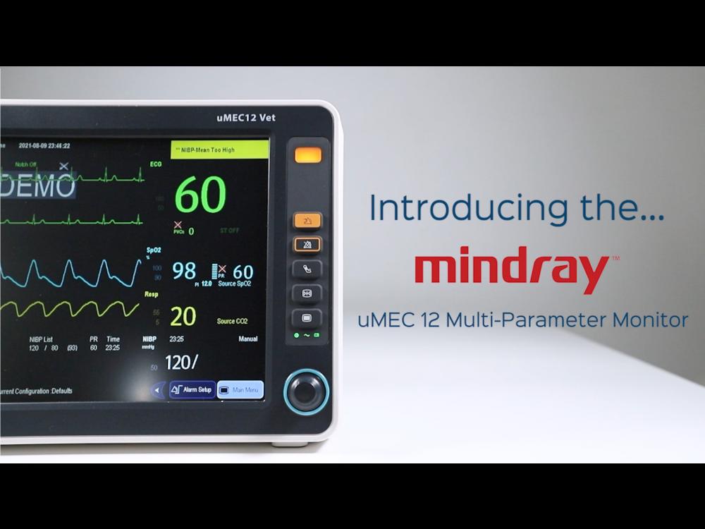 Mindray uMEC 12 Multi-Parameter Monitor - CO2