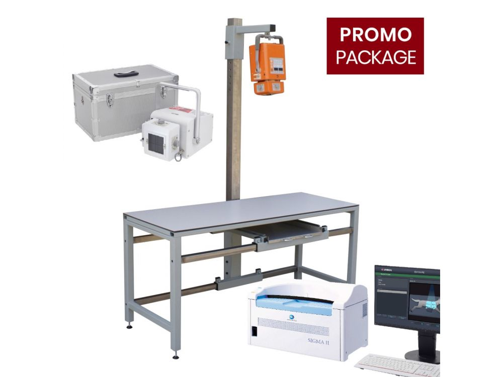 X-R Portable 40 + X-ray table + X-CR Tabletop Sigma II PACS Promotional Package