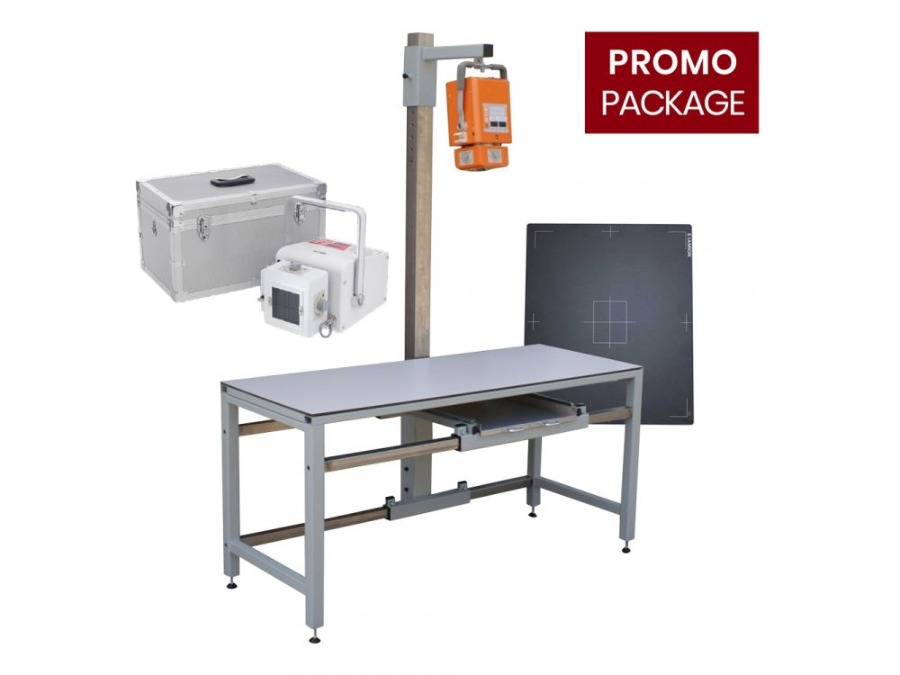 X-R Portable 40 + X-ray- Table + X-DR L WIFI Generation 1 - Pacs System